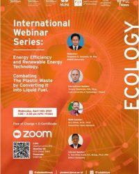 International Webinar Series: Presentation under the topic Ecology/Energy Efficiency and Renewable Energy Technology